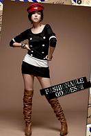 Непревзойденное цельное мини-платье по супер-цене. Новинка! Модное повседневное платье. Цвет - черно-белый.