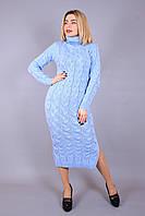 Вязаное платье с воротником стойка Lalo 42–48р. в расцветках