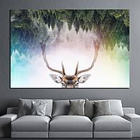 Картина - Олень в лесу