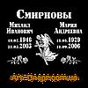 Акриловая табличка с данными на два имени 180Х240