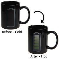 Батарея Уровень теплочувствительной кружки Цвет Изменение чашки кофе (черный) Чёрный