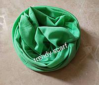 Шарф бафф хомут снуд бандана салатовый зеленый бирюзовый унисекс микрофибра 49/25