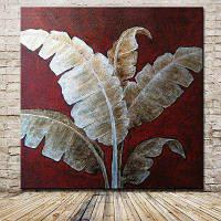 Mintura MT160368 бескаркасная Банановых листьев картина маслом Цветной