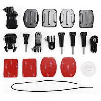 Универсальные крепления для экшн-камеры на мотоцикл / велосипед / велосипедный шлем Чёрный