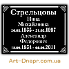 Акриловая табличка с данными для двоих 180Х240