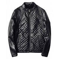 Случайные стенд воротник ПУ кожаные куртки пальто M