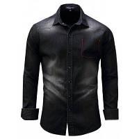 ФРЕДД Маршалл Классическая джинсовая рубашка с длинным рукавом XL