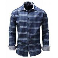 FREDD MARSHALL мужская повседневная печатная клетчатая рубашка M