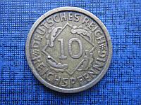Монета 10 пфеннигов Германия 1924 А