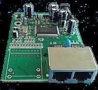 Плата медиаконвертора 2RJ45 100M под модуль 1*9 155М или SFP корзину 5V на базе IP175CH