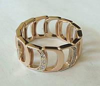 Кольцо 110810ЮМ, золото 585 проба, бриллианты 0,16кт.