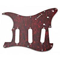 MA-007 Профессиональная черепаховая раковина ПВХ 3-PLY Pickguard Scratch Plate для электрогитары Коричневый