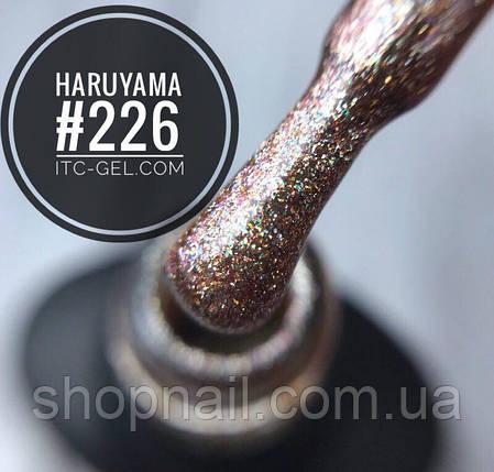 Гель-лак Haruyama №226 (бежевый с голографическими блестками), 8 мл, фото 2