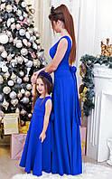 """Нарядное длинное детское платье """"Индиго"""""""