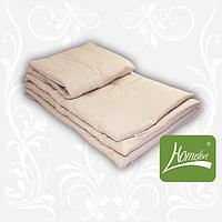 Комплект одеяло+подушка, 110*140см, шерсть, хлопок, бежевый, в сумке 58*34см, ТМ Homefort(2050261)