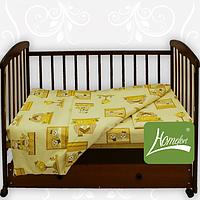 Комплект постельного белья в дет. кроватку, 90*120см, бязь, голубой, в сумке 36*29см ТМ Homefort(2050137)