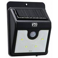 YWXLigh 4-светодиода водонепроницаемая светодиодная лампа солнечной энергии с датчиком движения PIR водонепроницаемые светодиодные фонари Чёрный