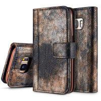 Зкаэ лес серии красочные Живопись Премиум Личи текстуры PU кожаный горизонтальный флип стенд бумажник чехол с картой Слот для Samsung Галактика S7