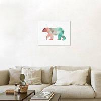 Холст Белый Медведь Стены Декор Дома Украшения Печать Цветной