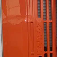 Капот облицовка Камаз Евро  пластик оранжевый