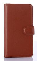Кожаный чехол книжка для  Nokia Lumia 1020 коричневыйый