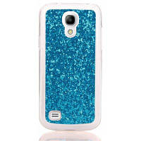 МК Покрынный порошок кожа все завернутый случай мобильного телефона TPU для Samsung S4 с Синий