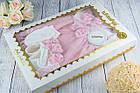 Набор с пышным розовым платьем и пинетками, фото 3