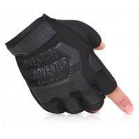 Тактические противоскользящие перчатки с для занятий спортом на открытом воздухе Чёрный
