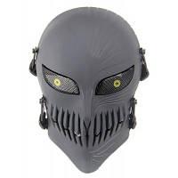 Защитная полнолицевая маска для велоспорта в виде черепа темно-серый