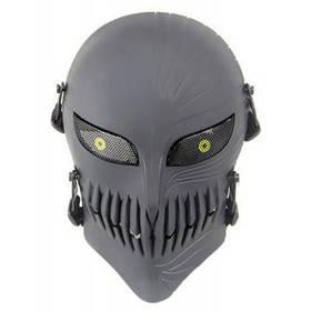 Защитная полнолицевая маска для велоспорта в виде черепа - Темно-серый