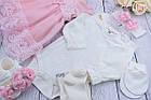 Набор с пышным розовым платьем и пинетками, фото 2