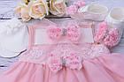 Набор с пышным розовым платьем и пинетками, фото 4