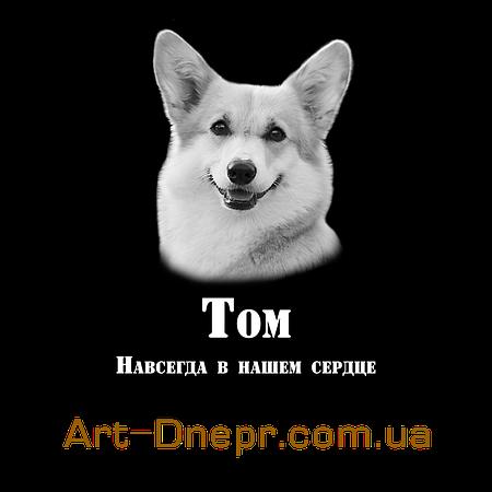 Вертикальная Акриловая табличка 180Х240 мм на памятник для животных
