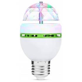 E27 3W RGB AC85-260V Вращающаяся светодиодная Лампа - Белый и зеленый