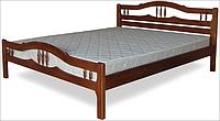 Кровать двоспальная с натурального дерева в спальню ТИС ЮЛІЯ 2 160*190 сосна