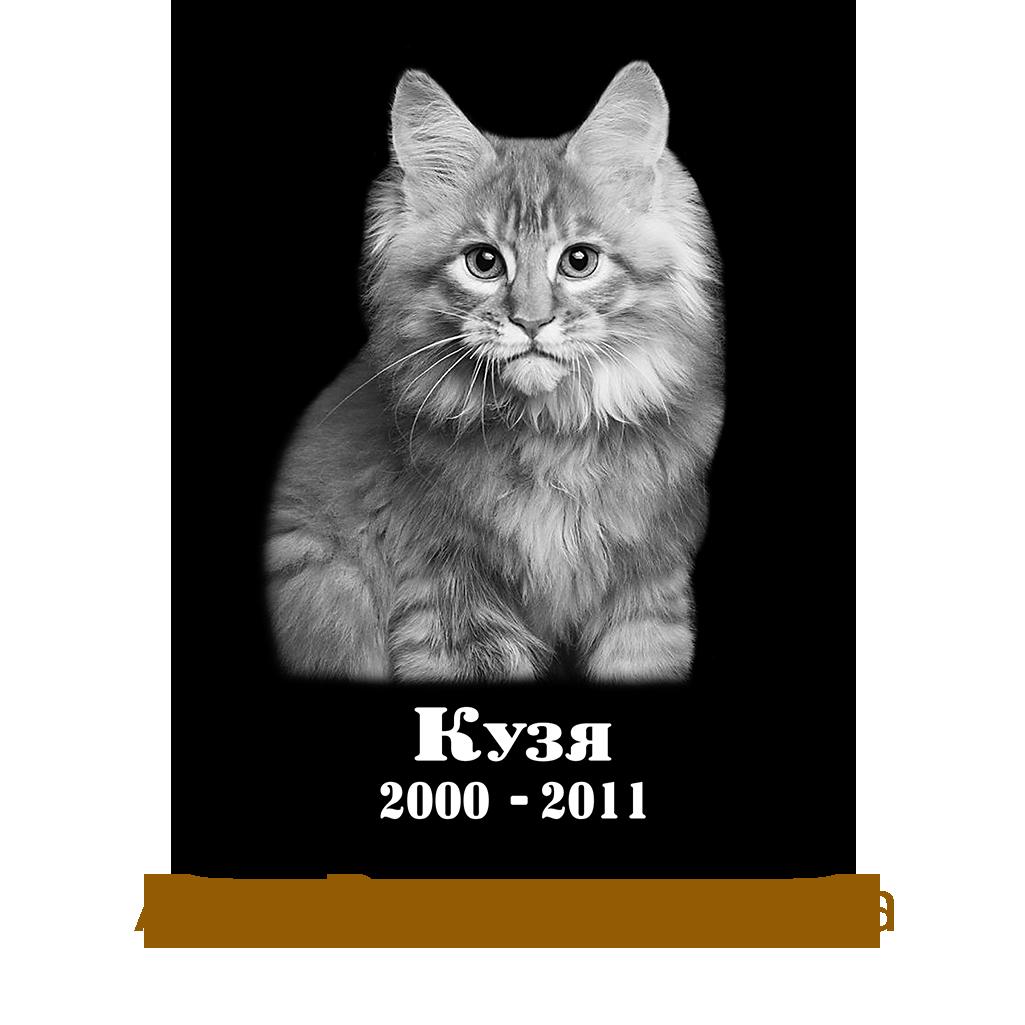 Вертикальная табличка на памятник 300Х400 мм для животного с фото