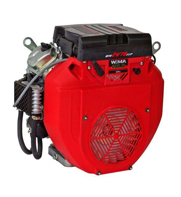 Двигун бензиновий WEIMA WM2V78F (20 л. с., 2 циліндра, вал конус, електростарт)