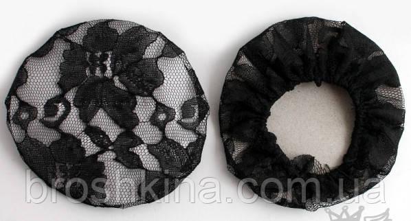 Сеточка для гульки гипюр черная 12 шт/уп