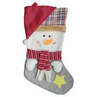 Рождественский декоративный мешок чулок для подарков ручной работы дизайн снеговик Цветной