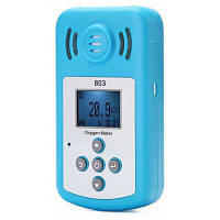 Портативный ЖК-дисплей концентрации датчик кислорода метр Синий