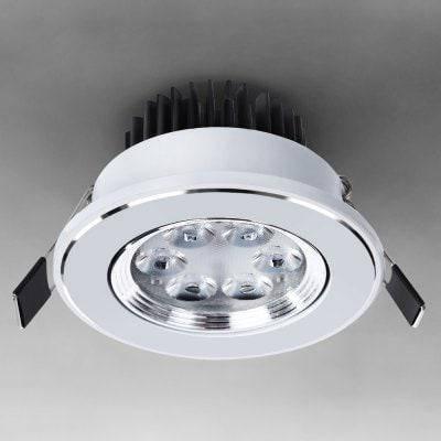 ВБР - 005 СМД - 2835 3 Вт 85 - 265В 280lm - Сид 350lm Регулируемый 6 - LED теплый белый Утопленные потолка вниз лампы - Тёплый белый, фото 2