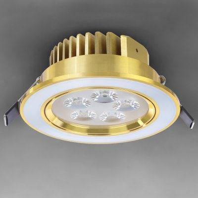 ВБР - 0001 - 1 ПОЧАТКА 5 Вт 85 - 265В Сид 480lm - 550lm из светодиодов Золотой потолок вниз света лампы теплый белый для домашнего освещения - Тёплый, фото 2