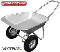 Тачка садовая двухколесная WB6211, объем вода / песок 65/140 л, грузоподъемность 80 кг, вес 12 кг (33307)