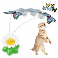 Пластиковый Электрический Танцы Бабочка Вокруг Цветка Кошка Игрушка Зелёный