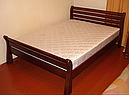 Кровать двоспальная с натурального дерева в спальню ТИС РЕТРО 1 160*190 сосна, фото 3
