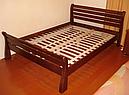 Кровать двоспальная с натурального дерева в спальню ТИС РЕТРО 1 160*190 сосна, фото 4