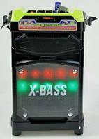 Мобильная акустическая система колонка чемодан Бумбокс с Караоке и микрофоном NNS NS-1389