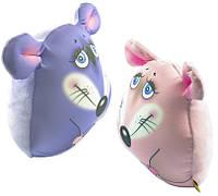 Антистрессовая игрушка Мышка 24х26 Розовая Синяя Серая