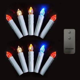 СНГ-57364 пульт дистанционного управления RGB светодиодная Рождественская Свеча дерево - 10шт