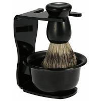 Комплект для бритья бороды 3 в 1 Чёрный